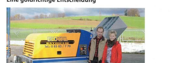Estrich Blöchl in der Fachzeitschrift Estrichtechnik
